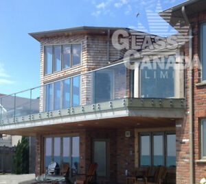 Glass railings: Exterior and Interior