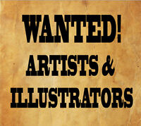 LOOKING FOR ARTISTIC PEOPLE TO DO ILLUSTRATIONS Watch Share  Pri