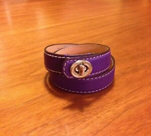 Authentic Coach leather wrap bracelet