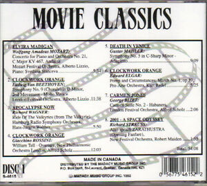 Movie Classics (Madacy) - 2 CDs West Island Greater Montréal image 2