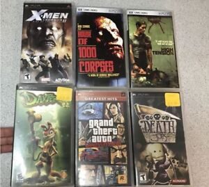 PSP Games 30$ for 4 games and 2 movies