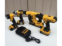 DEWALT 18v XRP Cordless SDS Hammer Drill Included in this 4-Piece Kit