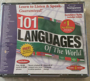 4 CD 101 languages reduced to $20 firm