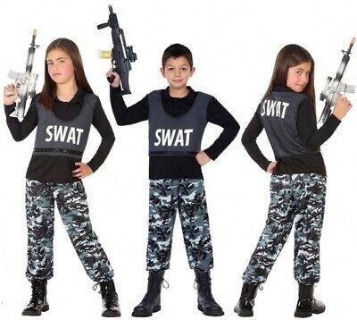 Déguisement Garçon Fille Policier SWAT 7/8/9 Ans Cinéma Police NEUF Pas - Swat Costume For Girls