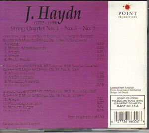 Franz Joseph Haydn - String Quartets No. 1, 3 & 5 West Island Greater Montréal image 2