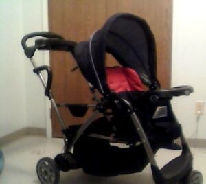 double stroller & brand new car seat.