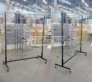 PRESENTOIRS DE VETEMENTS SUR ROULETTES / GARMENT ROLLING RACKS