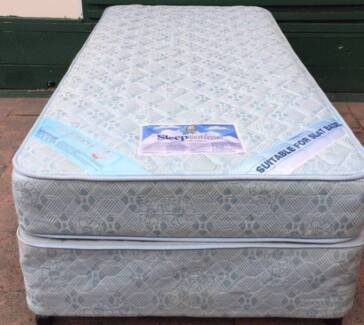 Good condition Sleep Maker Brand single bed set. Delivery availab