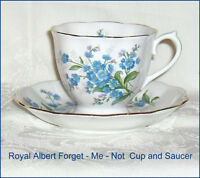 Royal Albert Forget-Me-Not Bone China Cup and Saucer Made in Eng