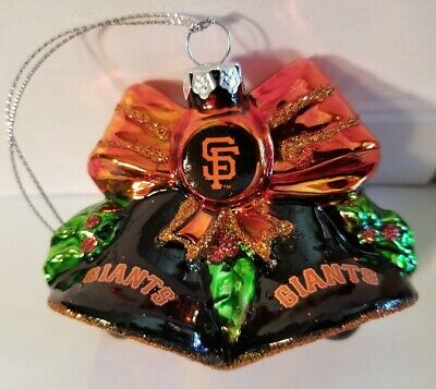 San Francisco Giants Glitter - MLB San Francisco Giants Glitter Bell Christmas Ornament
