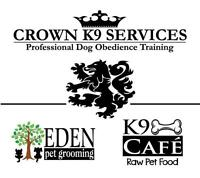 Crown K9 Services Professional Dog Training, New Classes Added!