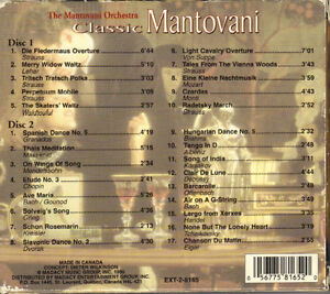 The Mantovani Orchestra - Classic Mantovani - 2 CD Set West Island Greater Montréal image 2
