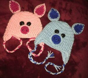 Handmade Piggy Hats