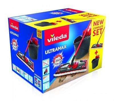 Vileda UltraMax Komplett-Set wia Ultramat,Bodenwischer und Eimer mit PowerPrese