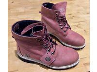 Pink timberland boots UK women's 5