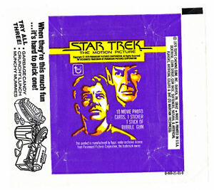 4 OUTER SPACE SCI-FI WAX WRAPPERS STAR TREK SPACE 1999
