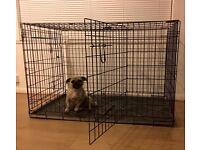 Extra Large Black Dog Cage Crate - Folds Flat