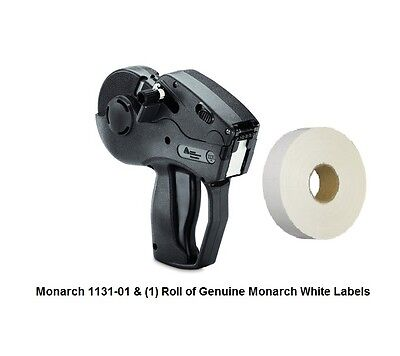 NEW MONARCH 1131-01 WITH 2,500 LABELS & INK ROLLER PRICE GUN LABELER new color