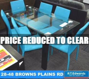 Memphis Glass Dining Table - Free Chairs