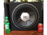 """JBL SUBWOOFER 15"""" With enclosure SWAP FOR Double din"""
