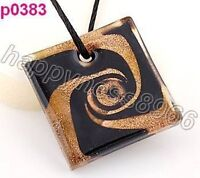 Baroque screw thread art lampwork glass pendant---NEW!