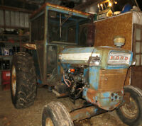 Ford 5000 with snow blower (Listowel)