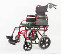 Ultra Lightweight Transport Wheelchair 17""