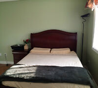 Queen Bed with Side Table & many more items