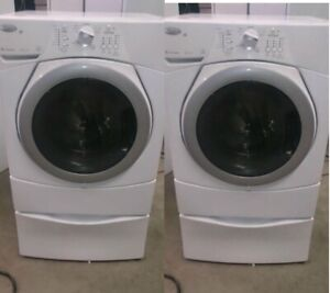 Washer Dryer - Front Load on Pedistals - DURHAM APPLIANCES LTD.