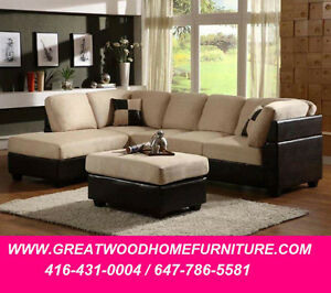 BRAND NEW SECTIONAL SOFA WITH STORAGE OTTOMAN..$699