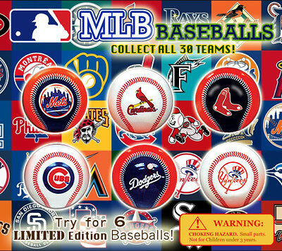 250 Pcs Vending Machine 0.500.75 Capsule Toys - Mlb Baseballs With Team Logos