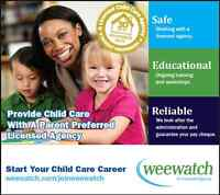 HIRING    -  HOME CHILD CARE PROVIDERS NEEDED!