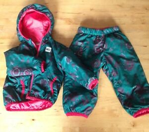MEC cocoon suit 12 mos reversible to pink or green print