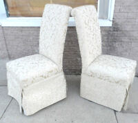 Pair of CHAIRS Entry Hall BOUDOIR Dressing Room LOUNGE