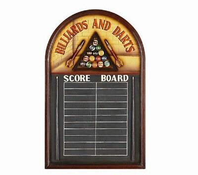 Wooden Billiard & Darts Score Board 3D Art with FREE shipping
