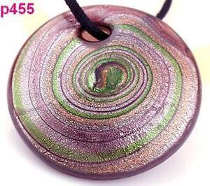 Abstract Vortex Murano  Art Glass Pendant Necklace--NEW!