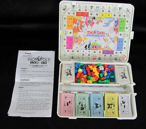 1991 Monopoly Junior Travel Version Game Board/Travel Box