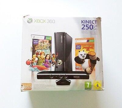 Consola Xbox 360 Slim Negra + Caja + Juego (250GB) (Original) (Microsoft) comprar usado  Enviando para Brazil