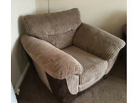 Soft fabric armchair - Excellent condition