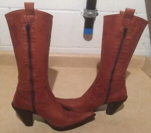 Women's Tall Leather Heels Size 6.5 London Ontario image 2