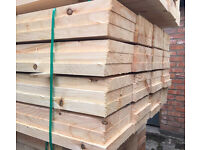 🌳Wooden/Timber Scaffold Style Boards/Planks -New- 12Ft/14Ft🌳