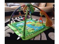 Unisex Fisher Price Rainforest Gym / Mat With Toys