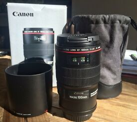 Canon 100mm MACRO f/2.8 L IS USM Lens boxed as new