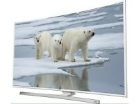 """White 40"""" Samsung Smart Curved 4K Ultra LED TV with Freeview HD UE40JU6510 warranty and delivered."""