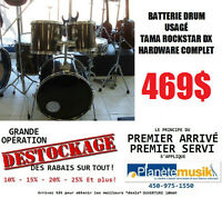 Opération *DESTOCKAGE* Batterie drum usagée TAMA ROCKSTAR DX