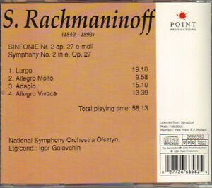Sergei Rachmaninoff - Symphony No. 2 (Onyx) West Island Greater Montréal image 2