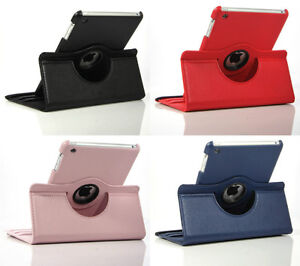 360 ROTATING CASE COVER WITH STAND FOR IPAD MINI, AIR, IPAD 2 4