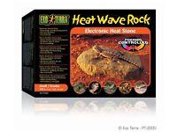 New Reptile Vivarium Exo Terra Heat Wave Rock Small Granite