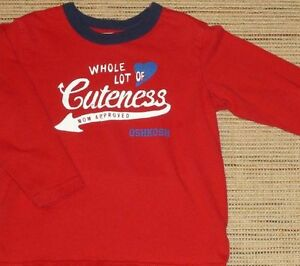 ✪ OSHKOSH - Boys Whole Lot of Cuteness Top - Size 3T