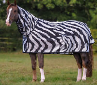 "Like New 72"" Horse Fly Sheet / Bucas Buzz Off  Zebra Print"